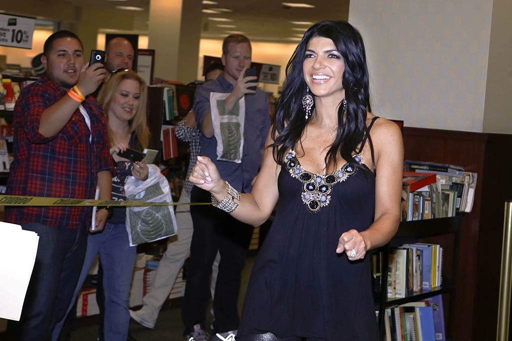 """Real Housewives of New Jersey"" star Teresa Giudice was thrilled when she showed up at a Barnes and Noble book signing in Los Angeles and there were actually a few people there waiting to meet her! Tibrina Hobson/<a href=""http://www.gettyimages.com/"" target=""new"">GettyImages.com</a> - May 11, 2011"