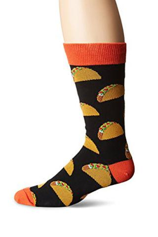 """<p>$10</p><p><a rel=""""nofollow"""" href=""""https://www.amazon.com/dp/B0113AWZJY?tag=syndication-20"""">BUY NOW</a></p><p>Now he can sport his favorite food on his feet, for which his competitive sock game will thank you.<br></p>"""
