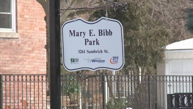 Mary E. Bibb Park, named in February, is next to Mackenzie Hall on Sandwich Street in Windsor.