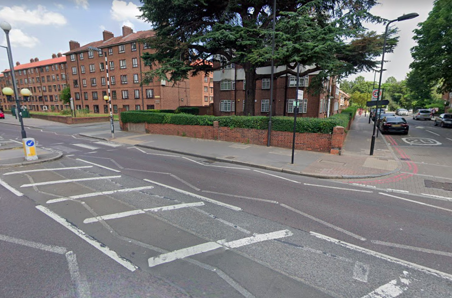 The high-speed crash ended on Clapton Common Road when the moped collided with a van. (Google)