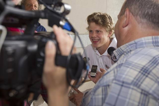 PHILADELPHIA, PA - JUNE 26: Kasperi Kapanen attends the 2014 NHL Draft - Top Prospects Media Availability event on June 26, 2014 at The National Constitution Center in Philadelphia, Pennsylvania. (Photo by Mitchell Leff/Getty Images)