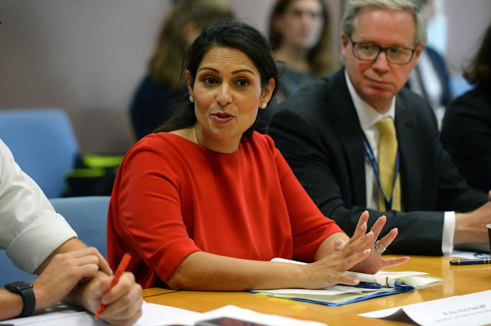Home Secretary Priti Patel during a visit to the Port of Dover for a meeting with port officials about the work they are doing to ensure the UK's smooth exit from the European Union.