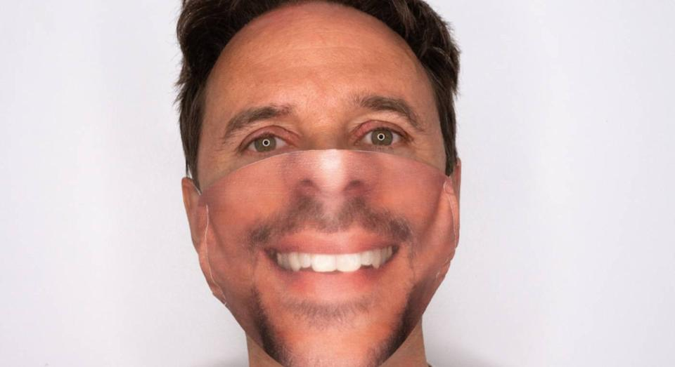 You can now buy a personalised face mask. (Mask Your Face at notonthehighstreet)