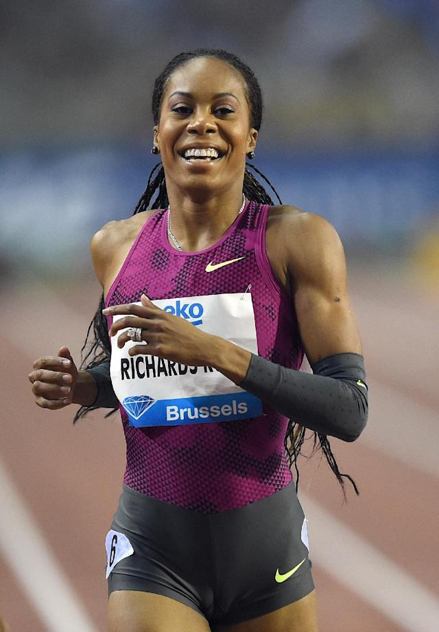 Sanya Richards-Ross, pictured in earlier competition, struggled in the 400m at the 108th Millrose Games pulling up in the homestretch after seizing the lead in the final curve and watching Phyllis Francis pass her 10 strides from the finish line (AFP Photo/Emmanuel Dunand)