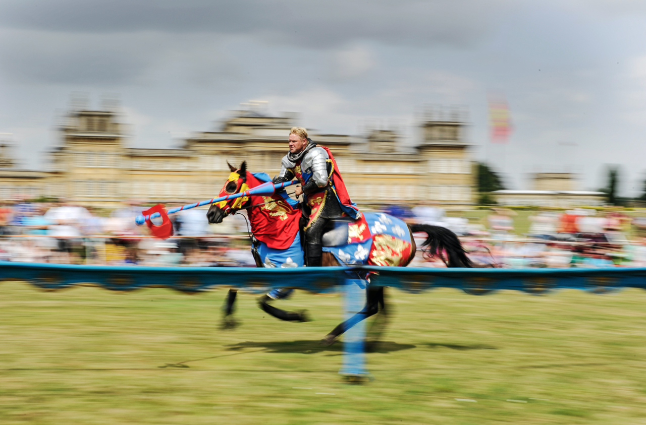 """<p><span>Could there be a better backdrop for a jousting match than beautiful Blenheim Palace? From April 29 until May 1, you'll be able to catch </span><a rel=""""nofollow"""" href=""""http://www.blenheimpalace.com/whats-on/events/spring-jousting-tournament.html""""><span>mighty jousting tournaments</span></a><span> on the South Lawn, featuring the 'Knights of Royal England'. The tournaments will be staged twice daily, while other activities include falconry displays, archery and a Jester workshop. Park & Gardens ticket required (adult £15.30; children £7.10). [Photo: Blenheim Palace]</span> </p>"""