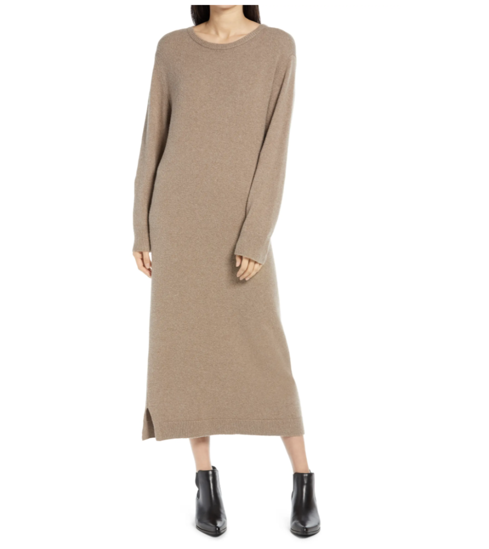 Treasure & Bond Crewneck Long Sleeve Sweater Dress - Nordstrom, $40 (originally $79)