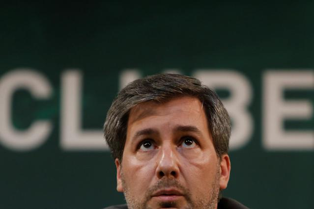 Sporting Portugal's president Bruno de Carvalho looks on during a news conference in Estadio Jose Alvalade, Lisbon, Portugal June 11, 2018. REUTERS/Pedro Nunes
