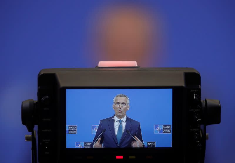 NATO Secretary-General Jens Stoltenberg gives news conference in Brussels