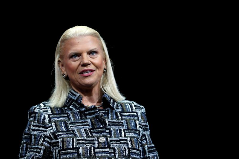 Ginni Rometty, IBM chairman, president and CEO, speaks during a keynote address at the 2019 Consumer Electronics Show (CES) in Las Vegas, Nevada, U.S. January 8, 2019. REUTERS/Steve Marcus