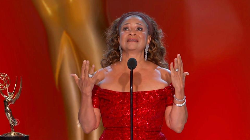 Debbie Allen accepts the Governors Award during the Emmys.