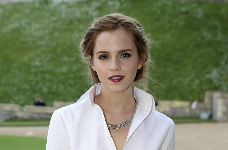 British actress Emma Watson, pictured arriving for a charity event at Windsor Castle on May 13, 2014