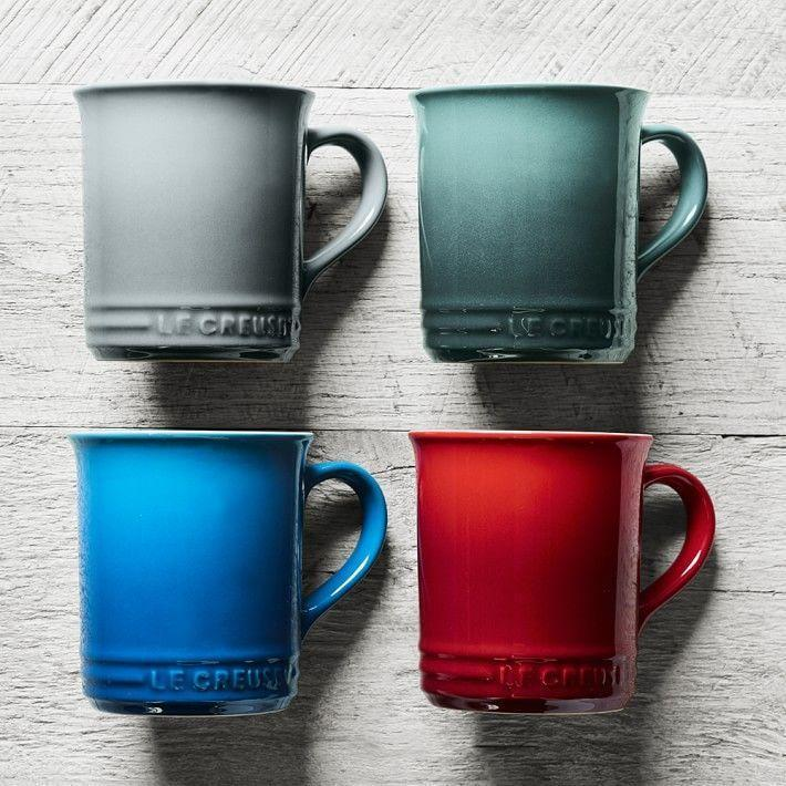 """<p><strong>Le Creuset</strong></p><p>williams-sonoma.com</p><p><strong>$20.00</strong></p><p><a href=""""https://go.redirectingat.com?id=74968X1596630&url=https%3A%2F%2Fwww.williams-sonoma.com%2Fproducts%2Fle-creuset-mugs_2&sref=https%3A%2F%2Fwww.goodhousekeeping.com%2Fholidays%2Fgift-ideas%2Fg29250426%2Fgifts-for-coffee-lovers%2F"""" rel=""""nofollow noopener"""" target=""""_blank"""" data-ylk=""""slk:Shop Now"""" class=""""link rapid-noclick-resp"""">Shop Now</a></p><p>Le Creuset makes a range of enameled stoneware mugs for coffee and more in their iconic gradient colors, so you can match one to your favorite foodie's Dutch oven. </p>"""