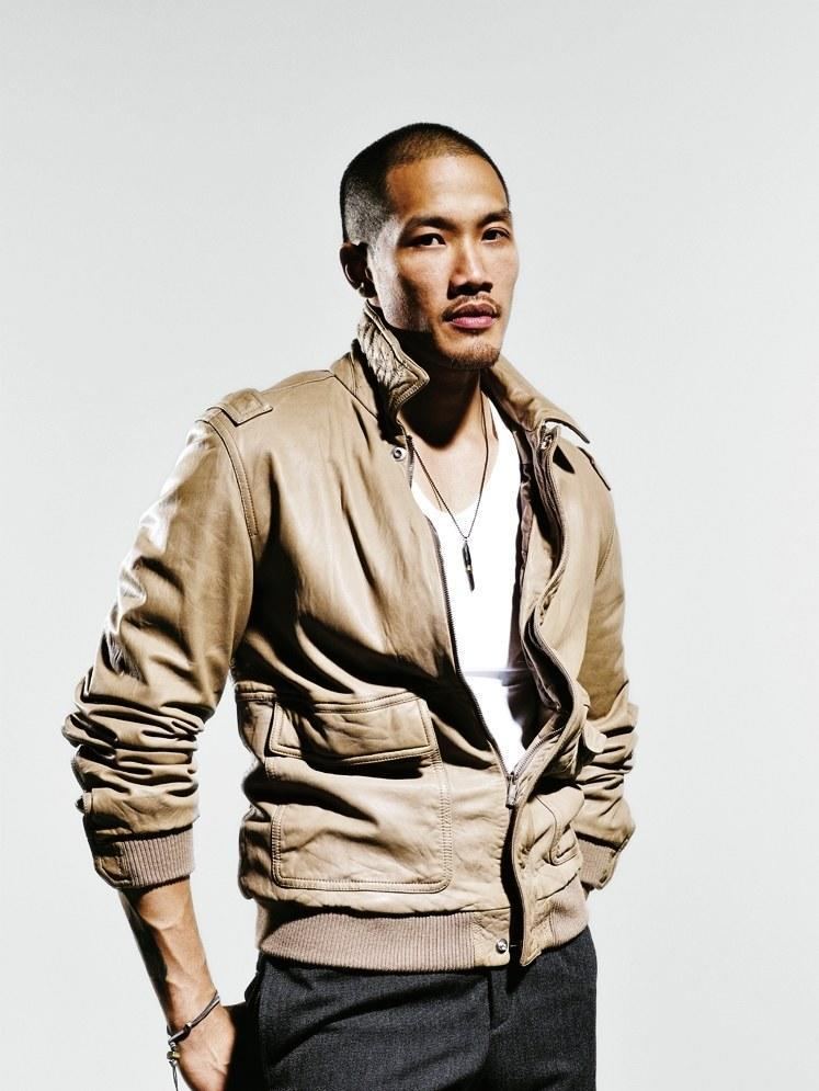 A leather jacket that's made for warm weather. It's lighter weight, lighter hued, and looks <em>extra</em> sharp with a white tank top underneath.