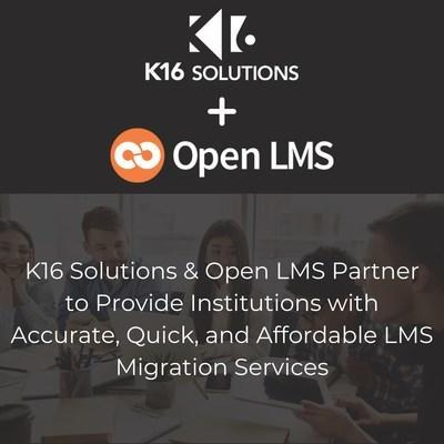 K16 Solutions & Open LMS Partner to Provide Institutions with Accurate, Quick, and Affordable LMS Migration Services