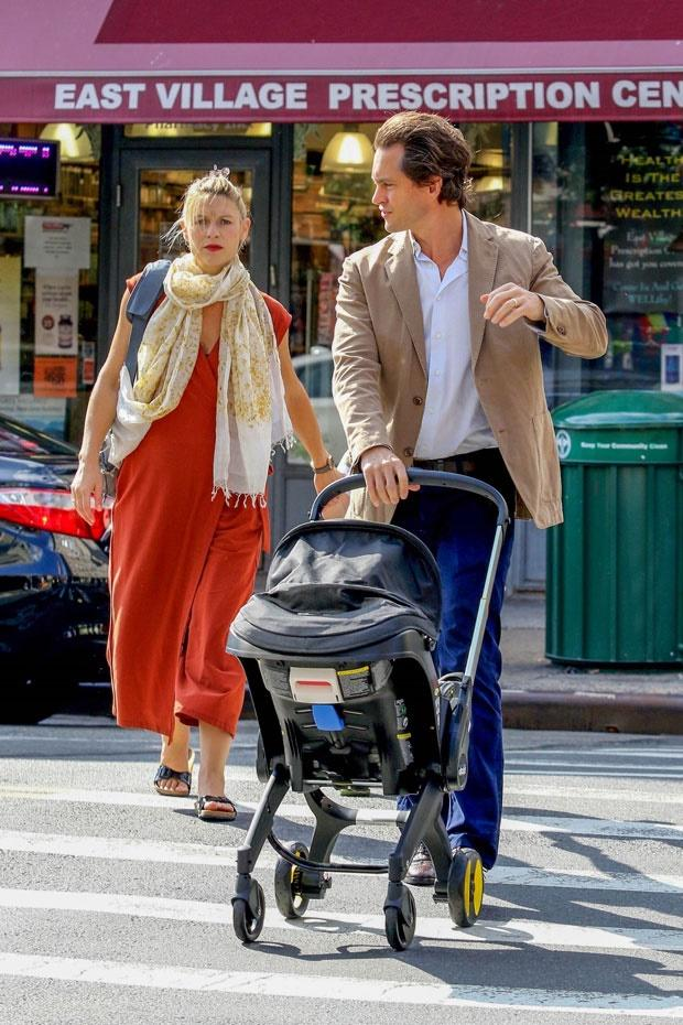 Claire Danes and her family in NYC