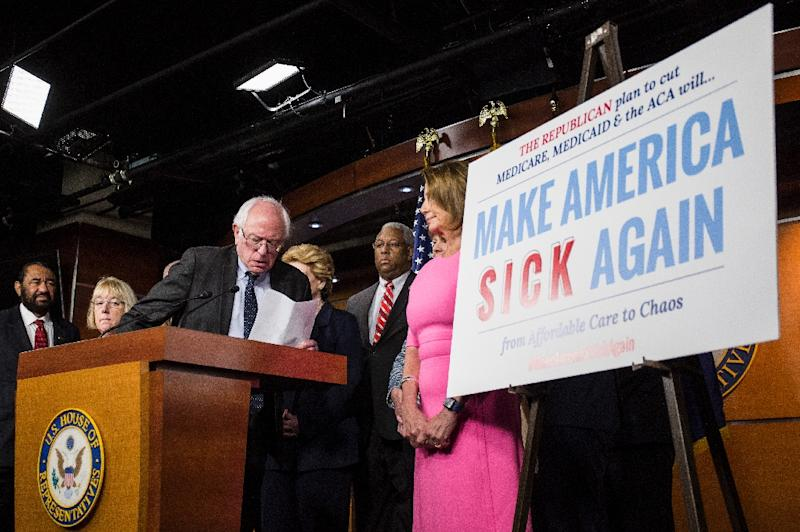 With dismantling Obamacare at the top of Republicans' agenda, House Democrats are showing a unified front to keep the Affordable Care Act alive (AFP Photo/ZACH GIBSON)