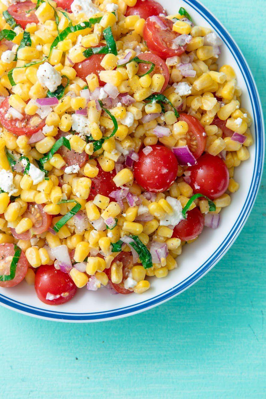 "<p>The quintessential summer salad.</p><p>Get the recipe from <a href=""https://www.delish.com/cooking/recipe-ideas/a19695472/easy-fresh-corn-salad-recipe/"" rel=""nofollow noopener"" target=""_blank"" data-ylk=""slk:Delish"" class=""link rapid-noclick-resp"">Delish</a>. </p>"