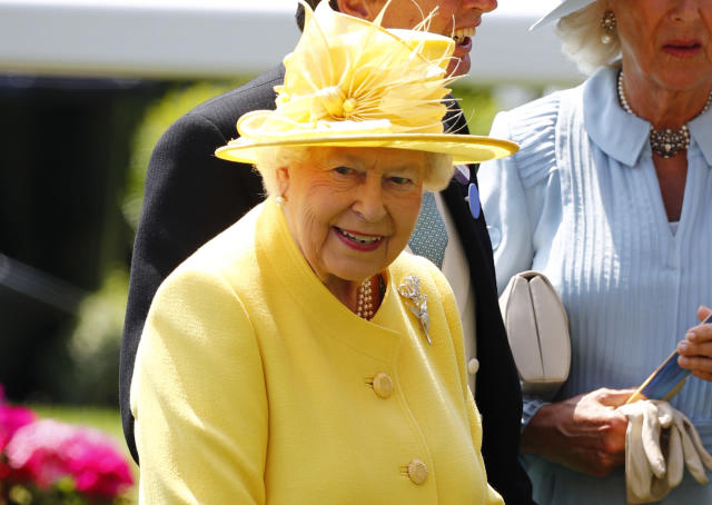Britain Horse Racing - Royal Ascot - Ascot Racecourse - June 21, 2017 Britain's Queen Elizabeth II before the 2.30 Jersey Stakes REUTERS/Eddie Keogh Livepic