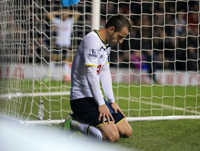 Roberto Soldado reacts after missing a chance against Burnley