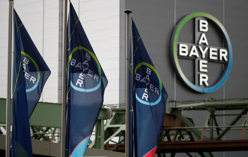 FILE PHOTO: Logo of Bayer AG pictured at a plant of Bayer in Wuppertal