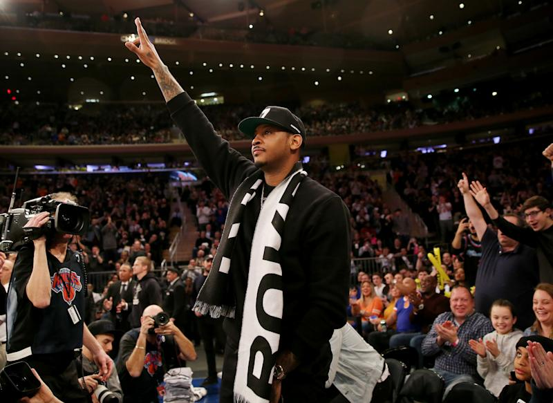 1239fbb406f2 Carmelo Anthony had standing ovation at Madison Square Garden