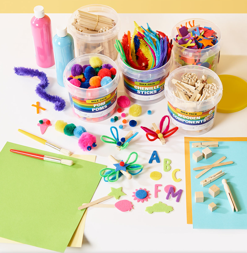 Art supplies for teachers and students.