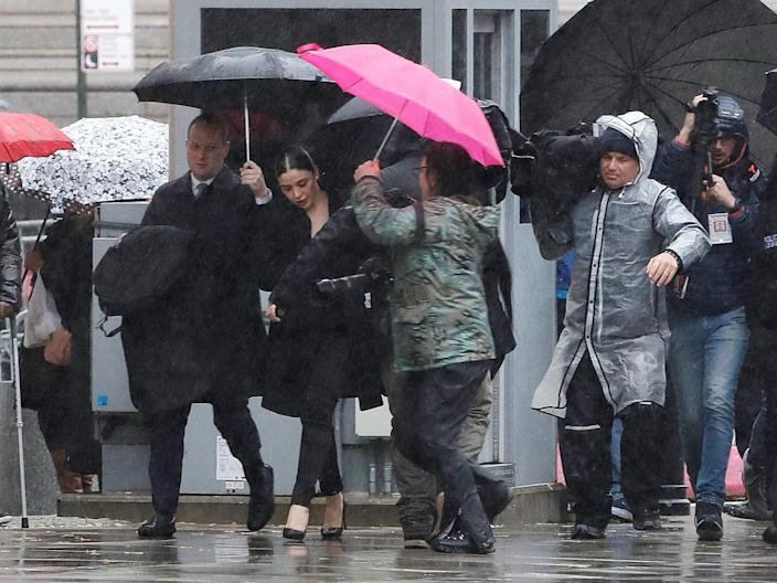 """Emma Coronel Aispuro, the wife of Joaquin Guzman, the Mexican drug lord known as """"El Chapo"""", arrives at the Brooklyn Federal Courthouse in New York. REUTERS:Mike Segar.JPG"""