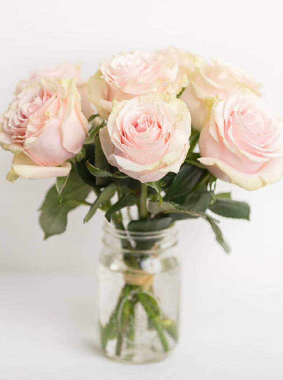"Remind Mom why you're her favorite by sending her this delicate bouquet of roses. It's a simple yet thoughtful pick—and the flower-delivery service offers same-day shipping in New York City, Chicago, and throughout the Northeast. $50, Petite Brigitte. <a href=""https://www.odealarose.com/product/pick-me-up--pink-25852"" rel=""nofollow noopener"" target=""_blank"" data-ylk=""slk:Get it now!"" class=""link rapid-noclick-resp"">Get it now!</a>"