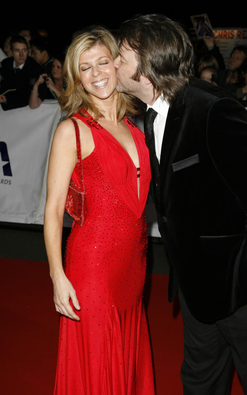 Kate Garraway being kissed by husband Derek Draper at the 2007 National Televsision Awards (NTA's) at the Royal Albert Hall, west London.