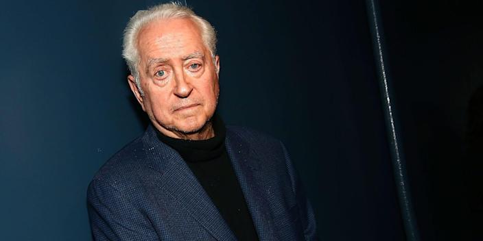 Filmmaker Robert Downey, Sr poses for photos during 'An Evening With Robert Downey, Sr.' at Film Forum on May 20, 2016 in New York City.