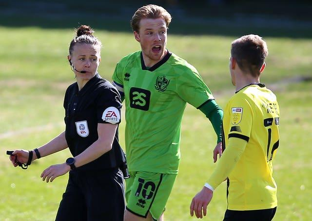 Rebecca Welch made EFL history when taking charge of Harrogate's Sky Bet League two game against Port Vale in April