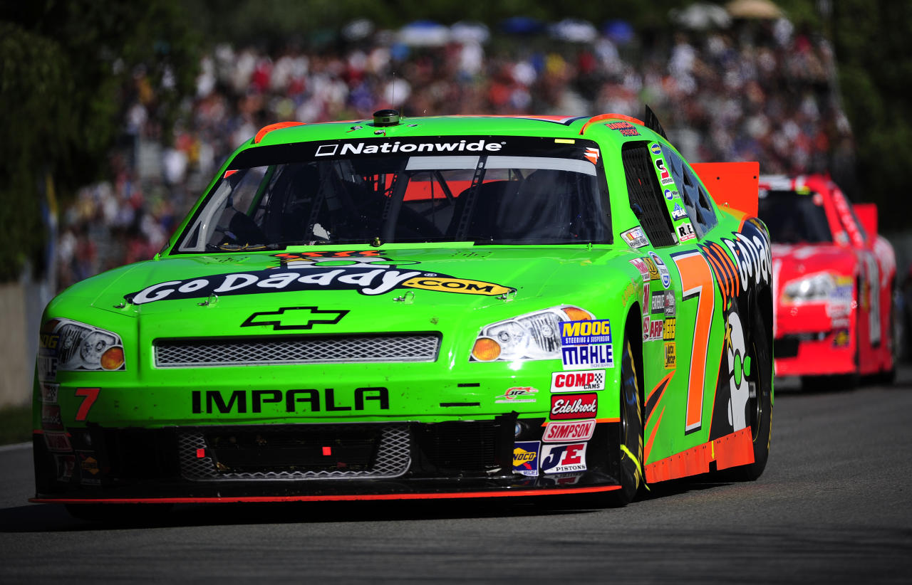 MONTREAL, QC - AUGUST 18:  Danica Patrick driver of the #7 GoDaddy.com Chevrolet during the NASCAR Nationwide Series sixth annual NAPA AUTO PARTS 200 presented by Dodge on August 18, 2012 at the Circuit Gilles Villeneuve in Montreal, Quebec, Canada.  (Photo by Robert Laberge/Getty Images for NASCAR)