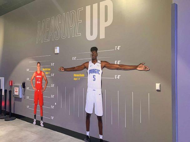PHOTO: Visitors can see how they can measure up to today's NBA and WNBA stars. (Shannon McLellan/ABC)