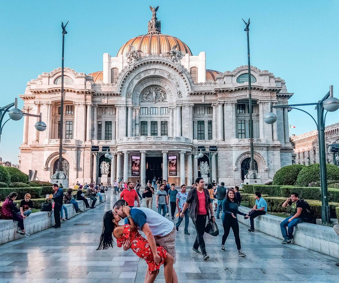 <p>The Switzers at the Fine Arts Palace in Mexico City. (Caters News) </p>