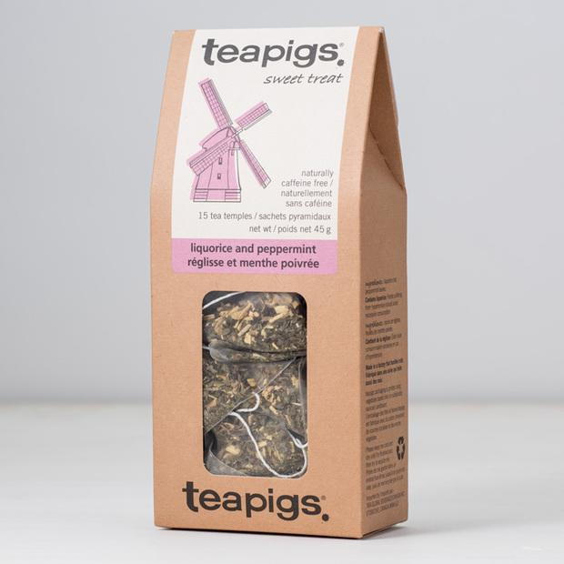 teapigs product shot of licorice and peppermint flavour