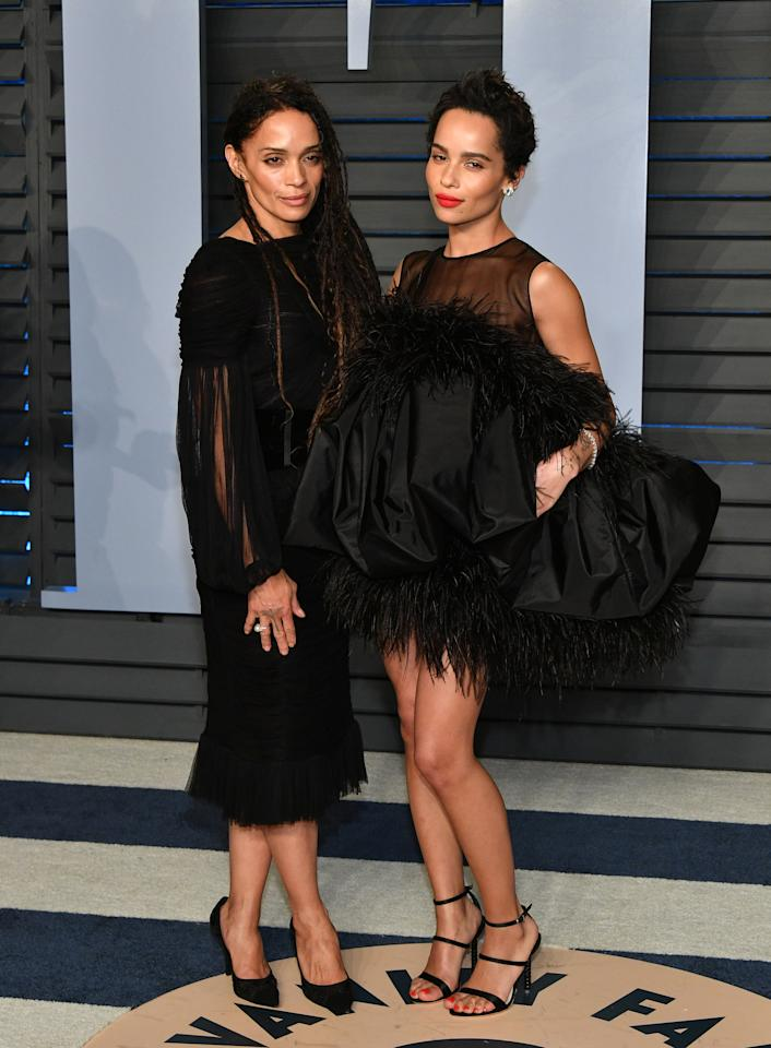 <p>Actress Lisa Bonet and her 'Big Little Lies' star daughter have the same killer cheekbones – and killer red carpet style. The pair attended the 2018 Vanity Fair Oscars party together and topped numerous best dressed lists. <em>[Photo: Getty]</em> </p>