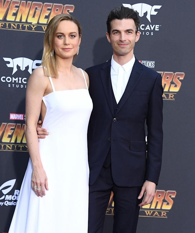 "<p>The actress took a break from all her recent training for Captain Marvel to attend with her fiancé, musician Alex Greenwald. ""WE SAW INFINITY WAR AND KNOW EVERYTHING THAT HAPPENS IN IT OMG,"" she later <a href=""https://twitter.com/brielarson/status/988669988864114688"" rel=""nofollow noopener"" target=""_blank"" data-ylk=""slk:tweeted"" class=""link rapid-noclick-resp"">tweeted</a>. (Photo: Steve Granitz/WireImage) </p>"
