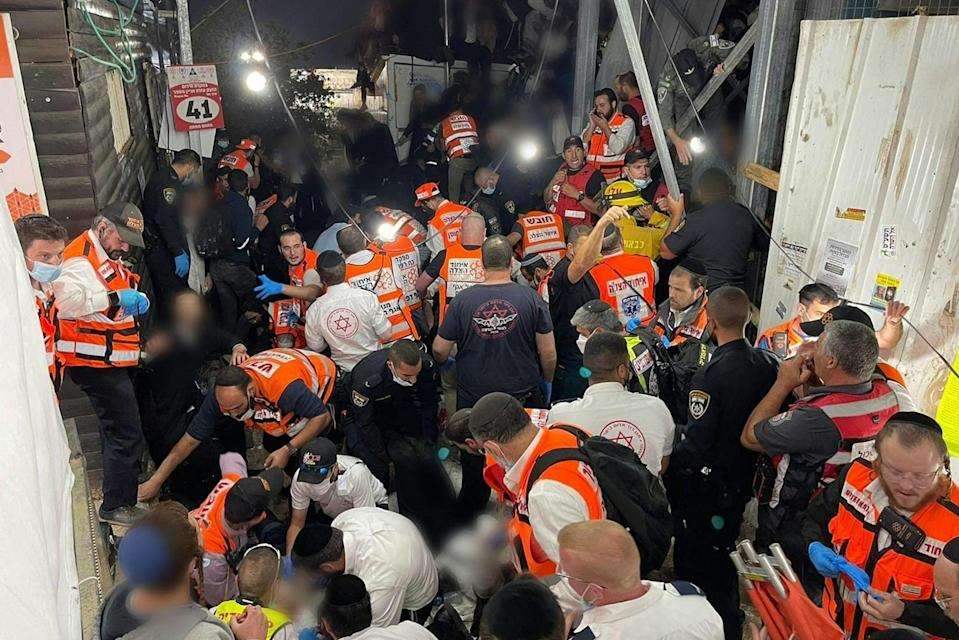 The disaster came after a stampede at the Lag BaOmer  religious festivalUnited Hatzalah/AFP via Getty Im