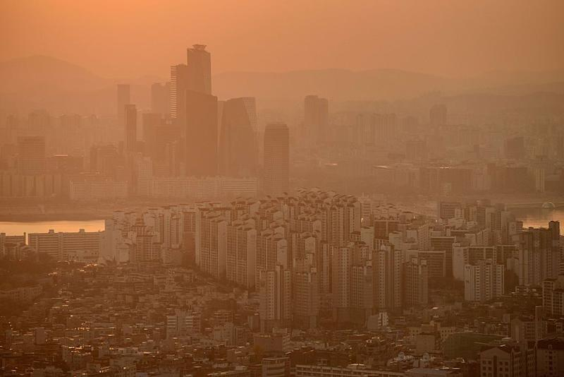Seoul has been regularly blighted by smog over the last few years: AFP/Getty Images