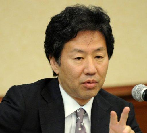 Jun Azumi, Japanese Finance Minister, pictured on May 3