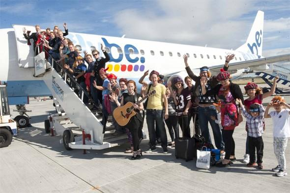 Flybe's redheads-only flight takes to the skies (with a royal on board too)