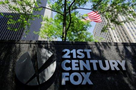 FILE PHOTO: The 21st Century Fox logo is displayed outside the News Corporation building in the Manhattan borough of New York City, New York, U.S., June 15, 2018. REUTERS/Eduardo Munoz/File Photo