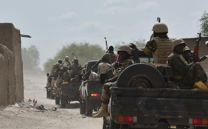 Niger's military claim to have regained full control of Bosso, but it refuses to reveal the exact size of its force (AFP Photo/Issouf Sanogo)