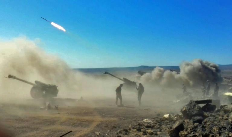 Syrian government forces have been fighting the Islamic State group in Sweida since jihadists carried out a wave of attacks in the mainly Druze province on July 25, killing 250 people