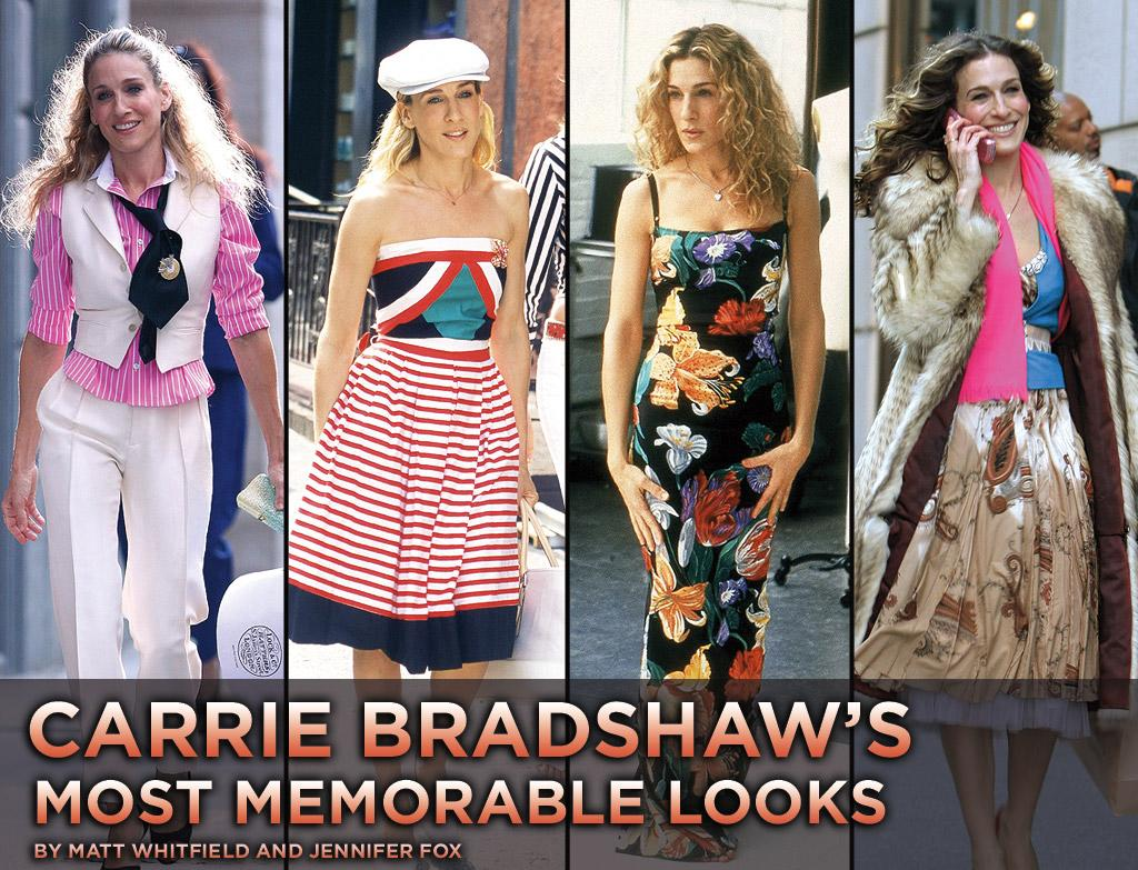 "From her ratty raccoon fur coat to her newsworthy Christian Dior newsprint dress, Carrie Bradshaw has sported her fair share of fashion hits and misses ever since she hit the small screen in the summer of '98. Before you check out her latest designer duds in <a href=""http://movies.yahoo.com/movie/1810111276/info"">Sex and the City 2</a>, take a look back at the style icon's most memorable outfits."