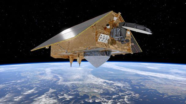 PHOTO: An illustration from the Europeon Space Agency shows the Sentinel-6 satellite, dedicated to measuring sea levels as part of the European Unions Copernicus Earth Observation.  (Europeon Space Agency/AFP via Getty Images)