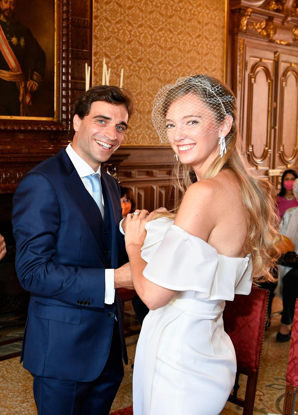 """Prince Eric—I mean, Belgian racing driver Jérôme d'Ambrosio married Eleonore von Habsburg—the archduchess of Austria and royal princess of Hungary, Bohemia, and Croatia—on July 20, <a href=""""https://people.com/royals/royal-wedding-eleonore-von-habsburg-austria-jerome-dambrosio/"""" rel=""""nofollow noopener"""" target=""""_blank"""" data-ylk=""""slk:according to People"""" class=""""link rapid-noclick-resp"""">according to <em>People</em></a>. The pair, like <a href=""""https://www.glamour.com/story/princess-beatrice-wedding-photos-queen-elizabeth-tiara-wedding-dress-borrowed?mbid=synd_yahoo_rss"""" rel=""""nofollow noopener"""" target=""""_blank"""" data-ylk=""""slk:Princess Beatrice and Edoardo Mapelli Mozzi"""" class=""""link rapid-noclick-resp"""">Princess Beatrice and Edoardo Mapelli Mozzi</a>, were forced to cancel their original plans due to the <a href=""""https://www.glamour.com/about/coronavirus?mbid=synd_yahoo_rss"""" rel=""""nofollow noopener"""" target=""""_blank"""" data-ylk=""""slk:coronavirus pandemic"""" class=""""link rapid-noclick-resp"""">coronavirus pandemic</a>. They opted, instead, to hold a small civil ceremony in Monaco."""