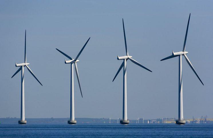 Forward thinking: windmill generators in the sea between Sweden and Denmark (REX/Shutterstock)
