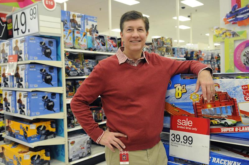 Target CEO Gregg Steinhafel with merchandise at the Black Friday store opening on Thursday, Nov. 22, 2012 in Bloomington, Minn. (Janet Hostetter/AP images for Target)