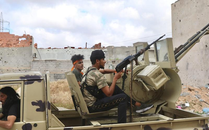 GNA and LNA forces are fighting for control of Libya (file photo) - Hazem Turkia/Anadolu Agency via Getty Images)/GNA and LNA forces are fighting for control of Libya (file photo)